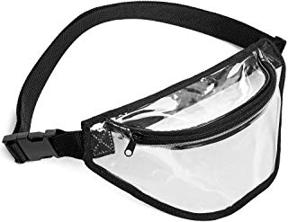 Clear Fanny Pack, BuyAgain Clear Bag Stadium Approved Waist Bag for Concerts, Sports, Travel and Daily Use