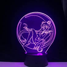 Tatapai 3D Night Light 7 Color Variation Sailor Moon LED Light Night Light Cool Girl Children's Room Decoration Gift Toy A...