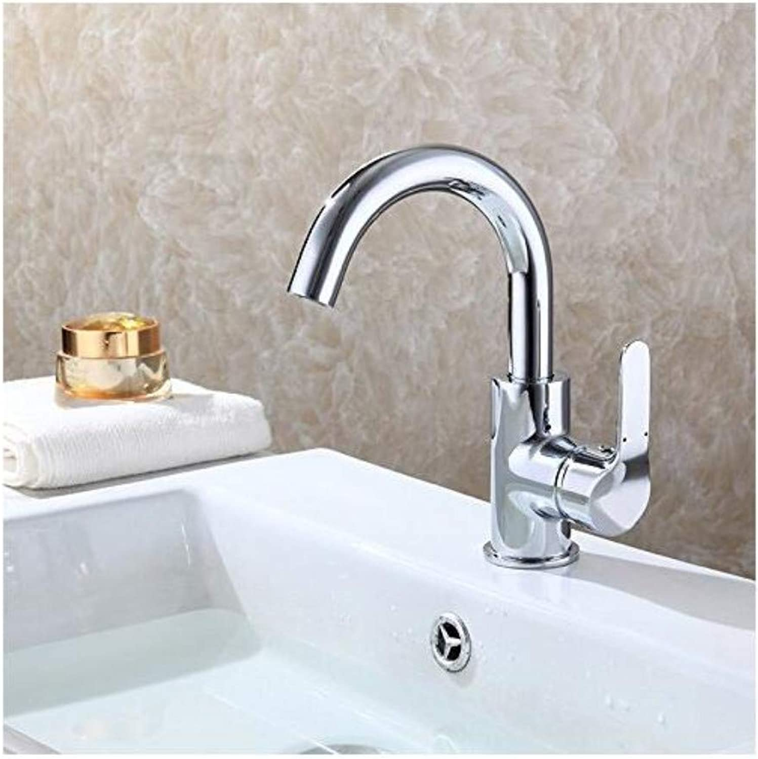 Modern Plated Mixer Faucet Faucets Mixer 360 Degree redate Easy Wash for Basin Faucet Kitchen Brass Chrome Water Tap Hot Cold Spool
