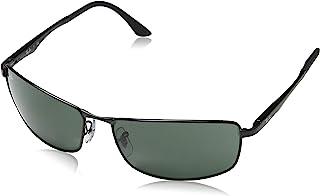 mens Rb3498 Rectangular Metal Sunglasses Rectangular...