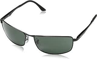 Ray-Ban Men's RB3498 Sunglasses,64mm,Black, Medium