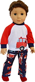 Brittany's My Fire Engine Pjs Fits Compatible with American Girl Boy Dolls- 18 Inch Doll Clothes