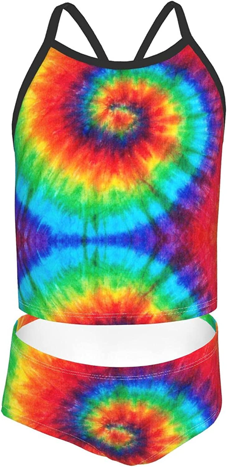 OcuteO Spiral Tie Dye Fashion Swimsuit Two Piece Bathing Suits Cute Swim Suit Set for