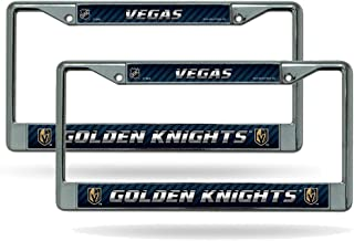 Rico Las Vegas Golden Knights NHL Chrome Metal (2) License Plate Frame Set