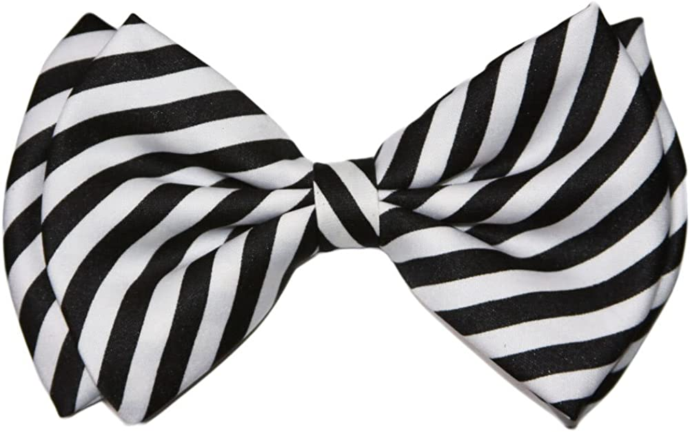 Pre-tied Bowtie 70% Max 79% OFF OFF Outlet - White Striped Black