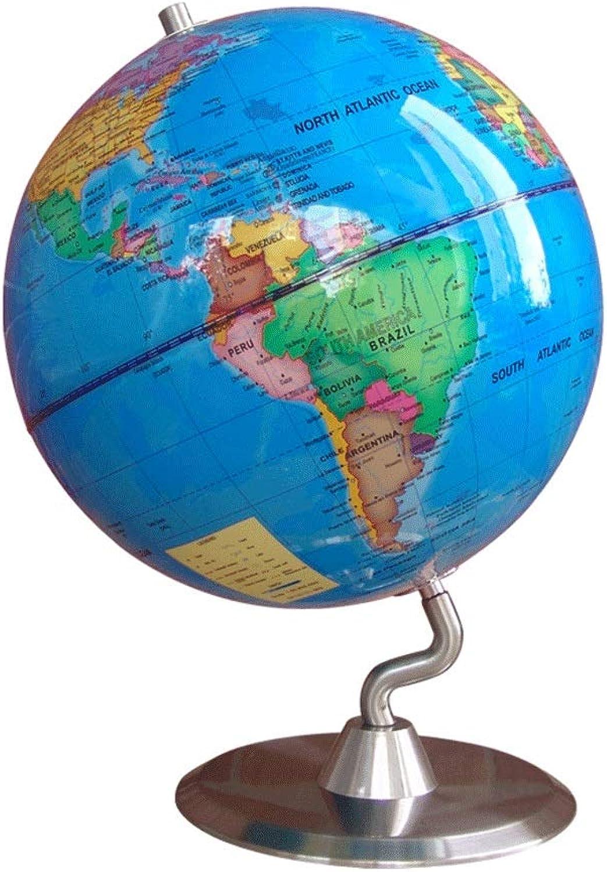 TMY Ufficio Globo 23cm HD Retro Globe Metal Base Puro Full Inglese Inglese Versione Globe Student Home Office Strumento Mappa (Coloree   blu)