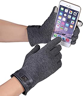 Hellofuture Mens Touch Screen Texting Mittens Warm Cold Weather Gloves Winter Gloves