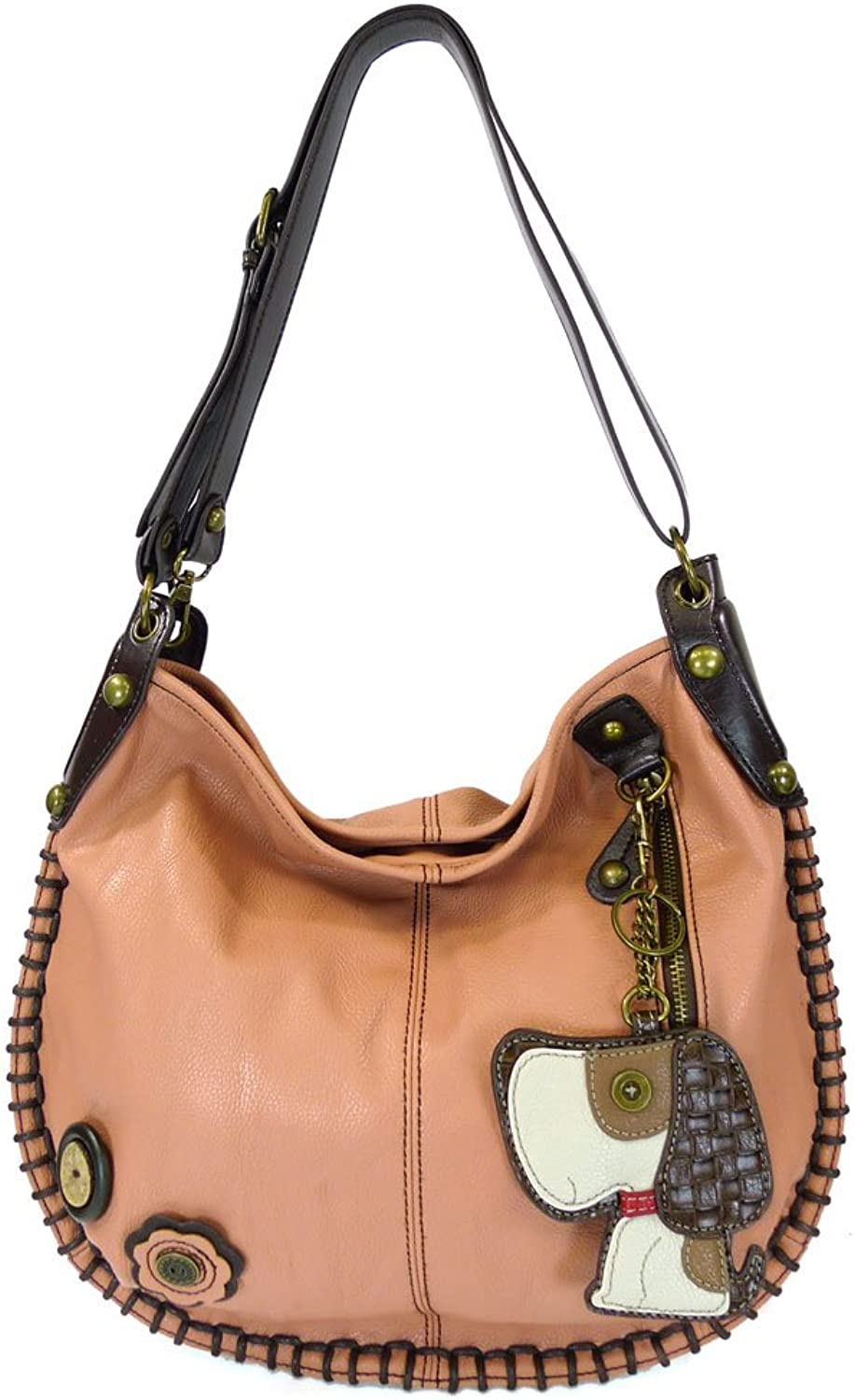 Chala Hobo Crossbody Large Tote Bag DOG Vegan leather PINK Congreenible
