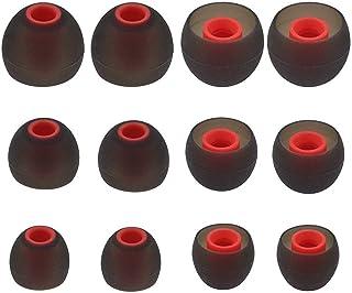 almohadillas para orejas de silicona de repuesto para auriculares compatibles con Senso, Zeus, Otium, Hussar, Sony MDR, Tozo, Mpow y auriculares (2 pares de cada uno pequeño, mediano y grande)