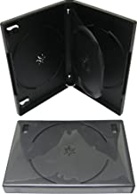 SquareDealOnline - DV3R22BKWT - 3 Disc DVD Case With Center Tray - 22mm Thick - Black - (1 Pack)