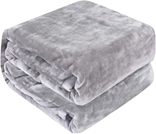 Qbedding Inc. Luxury Collection Microplush Flannel Fleece Blanket | Ultra Soft 380 GSM Lightweight All-Season Anti-Static Throw/Blanket for Sofa Couch Bed (Twin (59'' x 78''), Gray)