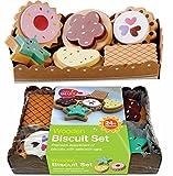 bee SMART Keks in der Serviertablett, 6 Stücke aus Holz