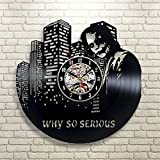 Jocker Batman reloj regalo decorativo de pared de vinilo