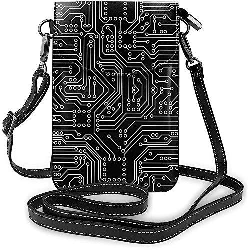 Interieur shop mobiele telefoon portemonnee WalletWomen 's Small Circuit Board schoudertas handtas portemonnee