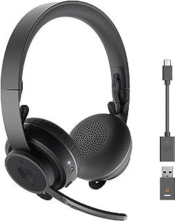 Logitech Zone 900 - Bezprzewodowy zestaw słuchawkowy Bluetooth z mikrofonem z redukcją szumów, podłączenie do 6 urządzeń z...