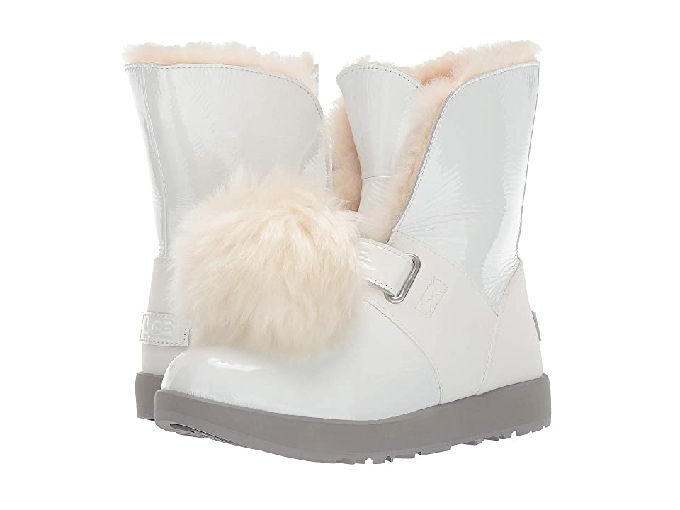 UGG Isley Patent Waterproof Boot (White) Women