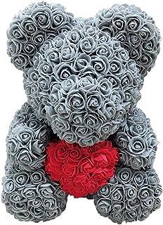 シミュレーションローズベア 造花 バラ ローズベア 枯れない花 ぬいぐるみ 薔薇 手作り バラ ローズベア人形ぬいぐるみ人形装飾 贈り物 記念日 バレンタイン ブライダルシャワー