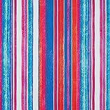 Fabulous Fabrics Satin blau, Streifen, 145cm breit –