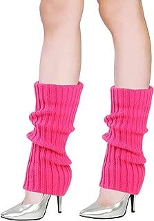 vamei Beinstulpen Damen 80er Jahre Stulpen Damen Beinwärmer Winter Beinstulpen Gestrickt Ballettstulpen Neon Stulpen Leg Warmers Beinlinge Aerobic Kostüm Neon Style