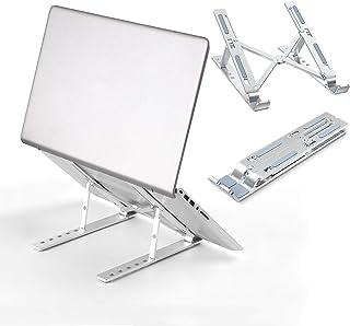 Top1Shop Laptop Stand, Adjustable Portable Laptop Holder for Desk, Aluminum Ventilated Notebook Riser for MacBook Air Pro,...
