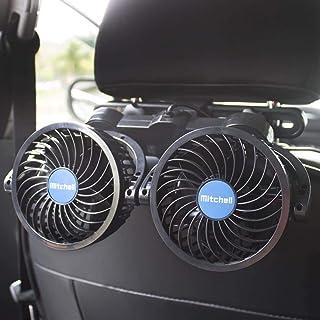 Electric Car Fans for Rear Seat Passenger Portable Car Seat Fan Headrest 360 Degree Rotatable Backseat Car Fan 12V Cooling...