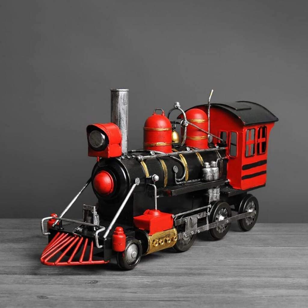 HEWEI Direct sale of manufacturer Crafts Retro Albuquerque Mall Creative Locomotive Steam Engine Orname Model