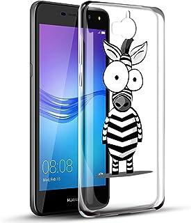 b2994615b19 Funda Huawei Y6 2017, Eouine Cárcasa Silicona 3D Transparente con Dibujos  Diseño Suave TPU [