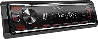 Kenwood KMM BT206 USB Autoradio mit BT Freisprecheinrichtung (Alexa Built in, Hochleistungstuner, Soundprozessor, USB, AUX, Spotify Control, 4 x 50 Watt, Tastenbeleuchtung rot)