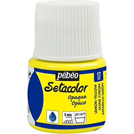 Pebeo Setacolor - Pintura para Tela (Opaca, 45 ml), Color Amarillo