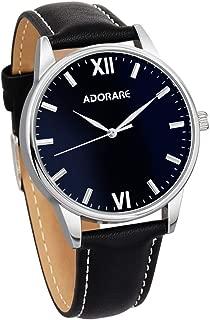 Men's Quartz Wrist Watch Business Casual Classic Leather Band Analog Dress Wristwatches for Men