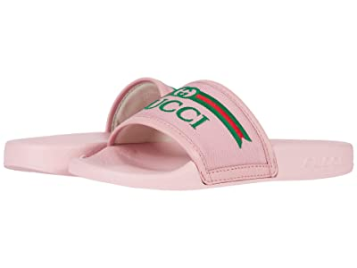 Gucci Kids Pursuit Fabric Sandal (Little Kid) (Wild Rose) Girl