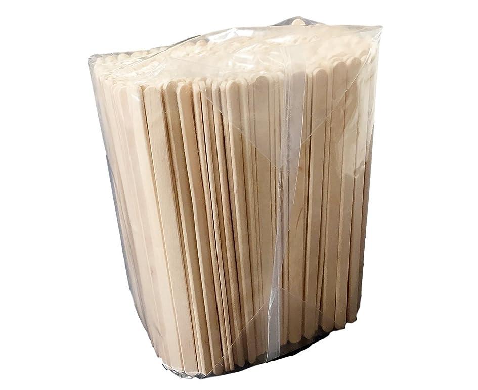 樹木アグネスグレイ見せます木製 コーヒーマドラー 面取り バラ 14cm 500本入 ウッドマドラー