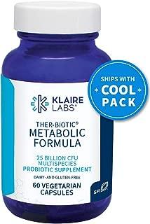 Klaire Labs Ther-Biotic Metabolic Formula Probiotic - Support Healthy Weight with 25 Billion CFU, The Original Hypoallergenic Probiotic, Lactobacillus & Bifidobacterium (60 Capsules)