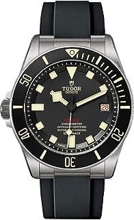 Tudor Pelagos Left Hand Drive Edition Titanium ساعت مچی مردانه روی بند لاستیکی مشکی (Ref. M25610TNL-0002)