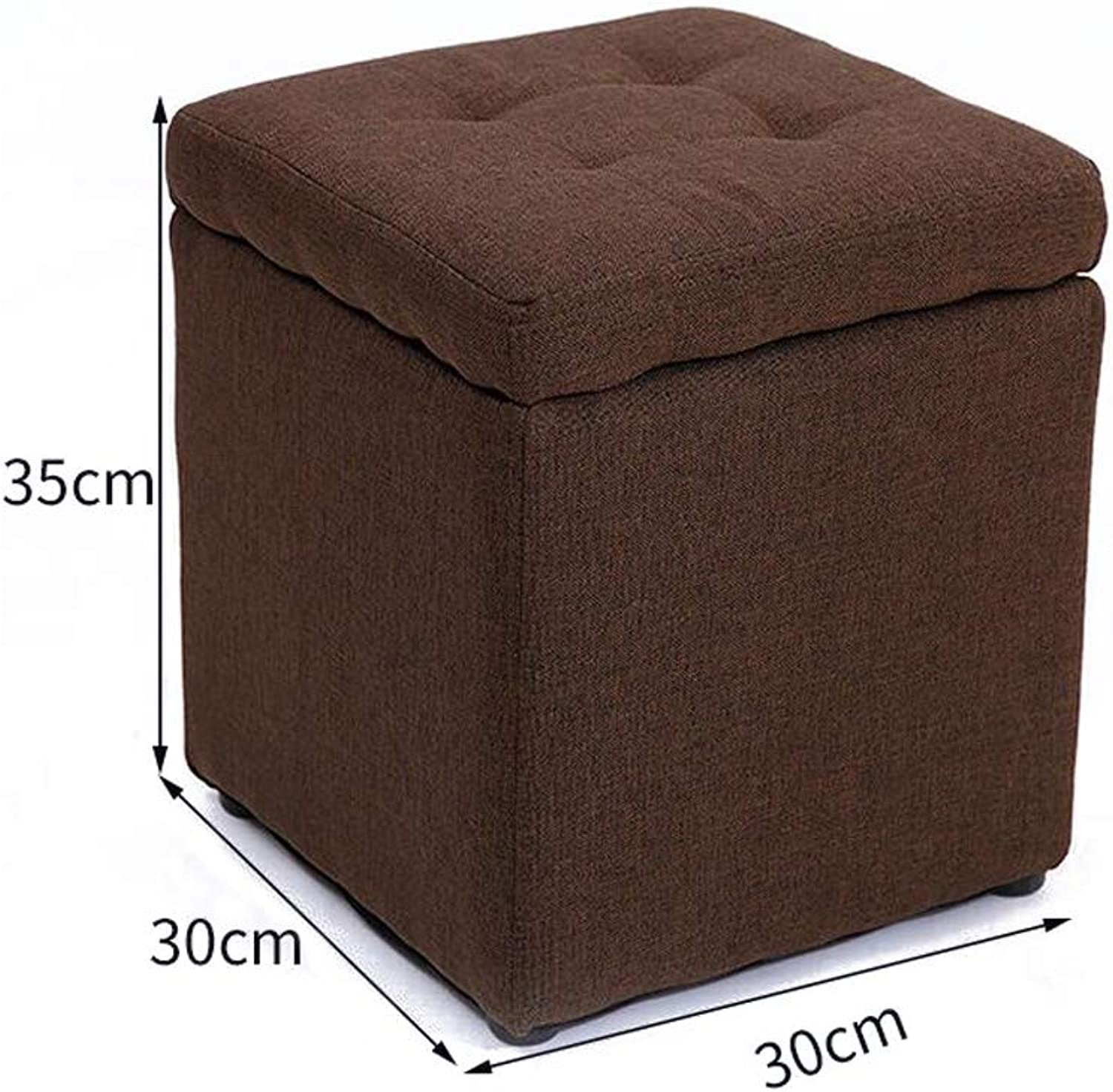 MXD Stool Creative Multifunctional Storage Stool Fashion Living Room Sofa Stool (color   Brown)