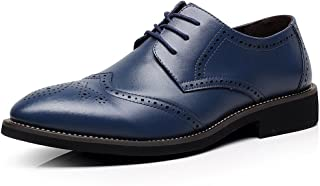 rismart Mens Derby Lace Ups Blue Size: 12.5