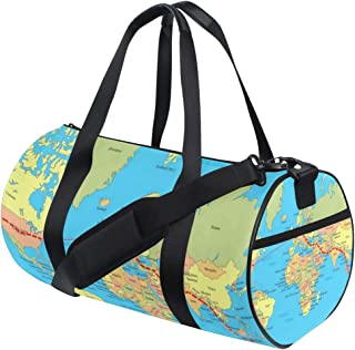 Womens Gym Bag Design Your Own Map Style Mens Duffel Bags Duffle Luggage Travel Bag