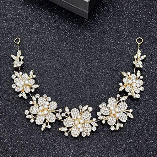 Diadema de Cristal, Oro Rosa Pop Cabello Hoop Diseño Floral Wild Bridesmaid...