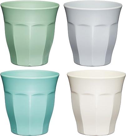 Preisvergleich für Kitchen Craft Colourworks'Unzerbrechliche' Trinkbehälter, 280 ml Mehrfarbig 8,5 x 8,5 x 9 cm