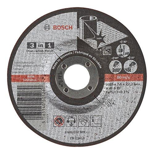 Bosch Professional 2608602389 Schleifzubehör 3-in-1-Scheibe 125 x 2,5 mm gekröpft