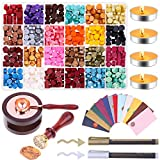 Sealing Wax, Anezus 645pcs Wax Letter Seal Kit with Wax Seal Beads, Sealing Wax Warmer, Vintage Envelopes, Wax Stamp and Metallic Pen for Wax Seal, Sealing Envelopes, Crafts and Decoration wedding invitations May, 2021
