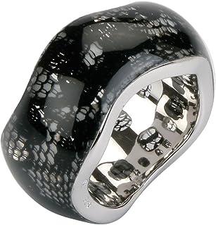 COBRA jr629ag alix-women ' s 戒指–925/ 1000标准纯银 / resin-black 蕾丝