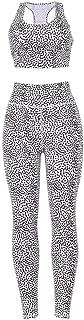 LENXH Women's Sports Yoga Suit Leopard Print Vest Trousers Fashion Casual Sports Suit Simple Vest Pants