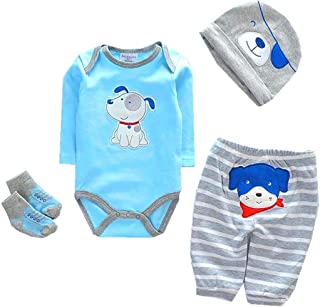 "NPK Reborn Dolls Baby Clothes Toy Blue Dog Outfit for 20""- 22"" Reborn Dolls boy Baby Clothing Light Blue Outfit Sets"