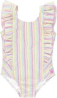 RuffleButts Girls Ruffle Strap One Piece Swimsuit w/UPF 50+ Sun Protection