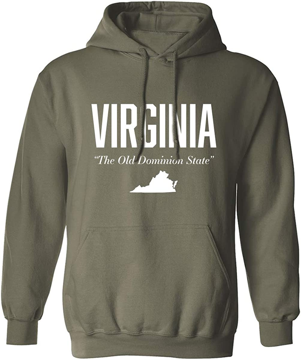 Virginia The Old Dominion State Adult Hooded Sweatshirt