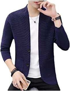 neveraway Men Basic Style Pocket Sweater Button Down Cardigan Sweater
