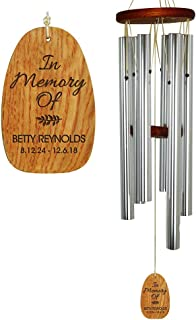 engraved wind chimes memorial