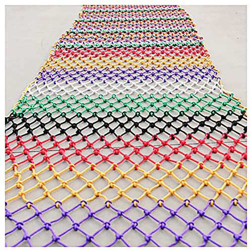 Coloreado Nylon Safety Net 4mm Niño Seguridad Neto Protección Escalada Marcos Seguridad Color Color Escalones Para Niños Balcón Protección Net Color Color Color Nylon Net(Size:1*5m(3*16ft))