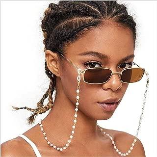Cathercing Vintage Eyeglass Chain Necklace Pearl Beaded Eyewear Retainer Reading Eyeglass Holder Strap Sunglasses Holder Cords Eyewear Retainer Lanyards for Women Girls Elderly and Children Anti Slip